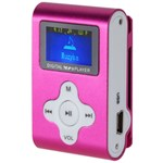 MP3 Player Quer, functie de reportofon, afisaj digital, roz