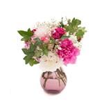 Buchet victorian cu bujori si trandafiri
