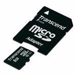 Card memorie Transcend 8GB Micro SDHC Class 10 UHS-I +adaptor SD