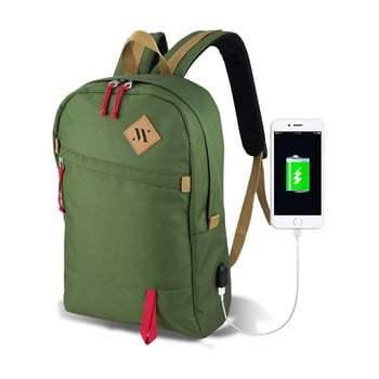 Rucsac cu port USB My Valice FREEDOM Smart Bag, verde