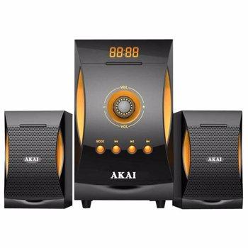 Sistem audio Akai SS032A-3515 configuratie 2.1 38W Bluetooth USB SD card radio FM telecomanda Gri Portocaliu SISTEM BOXE ACTIVE 2.1 BT SS032A-3515