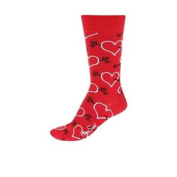 Sosete rosii unisex cu sageti & inimioare Happy Socks