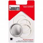 Set 3 garnituri+sita pentru espressor aragaz Bialetti, marime 1 cupe