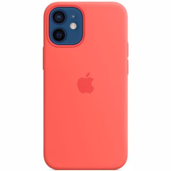 Husa Original iPhone 12 Mini Apple Silicon, MagSafe, Pink Citrus