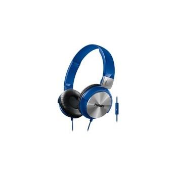 Philips SHL3165BL/00, Casti on-ear cu microfon, Blue
