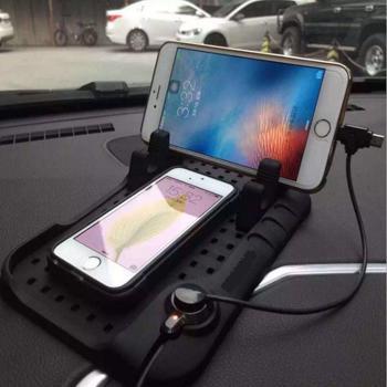 Suport automobil magnetic pentru Telefon mobil, Navigatie, USB, incarcare auto