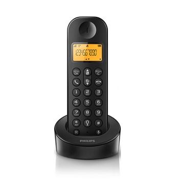 Telefon fara fir DECT Philips D1201B/53, Caller ID, Negru