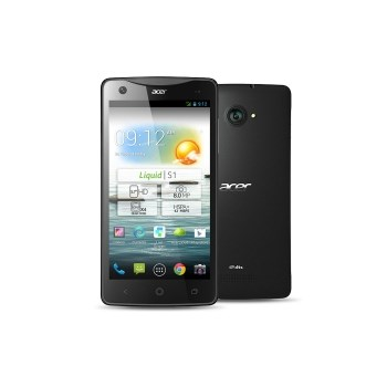 "Telefon Mobil Acer Liquid S1, Procesor Quad Core 1.5 GHz, Display 5.7"", 8GB Flash, 1GB RAM, 8 MP, 3G, WI-FI, Dual Sim, Android (Negru)"