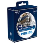 Philips RacingVision +150% H4 Headlight Bulb 12342RVS2, Twin Pack