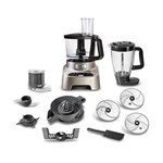 Robot de bucatarie TEFAL Double Force Digital DO826H38, vas 3l, blender 2l, 1000W, 2 trepte viteza, argintiu-negru