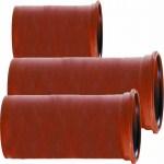 TUB PVC CANALIZARE EXT, CU MUFA/GARNITURA, SN2, L=1M, D.110mmx2.2mm