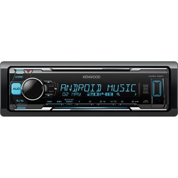 Player auto Kmm-123 YY Kenwood, MP3/WMA/FLAC/WAV, USB/AUX/RCA/AM/FM, Negru/Albastru
