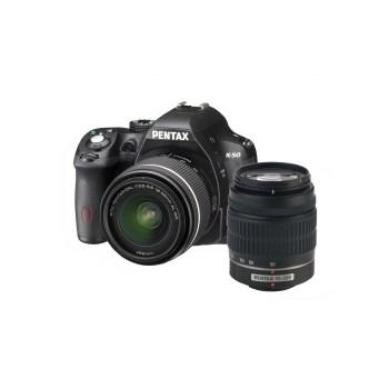 K-50 + SMC DA 18-55mm F3.5-5.6 WR + SMC DA 50-200mm F4-5.6 WR negru