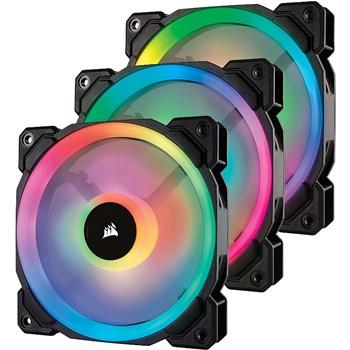 CORSAIR CO-9050072-WW Corsair LL120 RGB LED Static Pressure 120 mm, PWM, three fans
