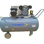 Compresor Aer Profesional Stager HMV0.25/250 - 2.2KW, Debit aer 250L/min, 8Bar, Capacitate butelie 250L