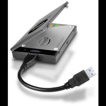 Rack Axagon ADSA-1S6 USB 3.0 compatibil 2.5 inch SATA HDD-SSD Negru adsa-1s6