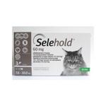 Selehold Pisica 60mg, 7,6 - 10 Kg, 1ml, 3 pipete