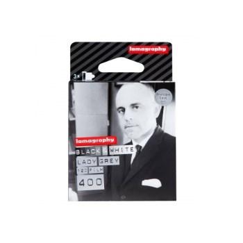Lomography Lady Grey 400 - film negativ alb-negru lat (ISO 400, 120) pachet 3 filme