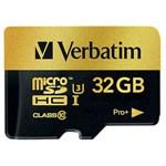Card memorie Verbatim Pro+ micro SDHC, 32GB, clasa 10