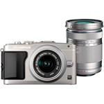 Aparat foto mirrorless Olympus E-PL5 Silver + EZ-M1442 II R Silver + FlashAir card kit