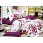 Lenjerie de pat pentru 2 persoane 4 piese, microfibra, Magnolia