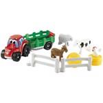 Set Ecoiffier Tractoras cu Remorca si Animale eco_3255