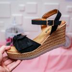 Sandale Vitana negre cu platforma -rl