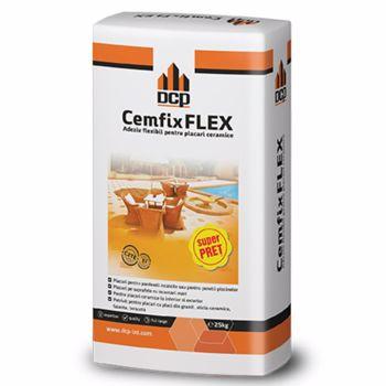 Adeziv flexibil pentru piatra naturala si placari ceramice, Cemfix Flex gri, 25 kg