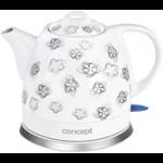 Fierbator Concept Ceramica RK0010ne, 1100 W, 1 l, Alb