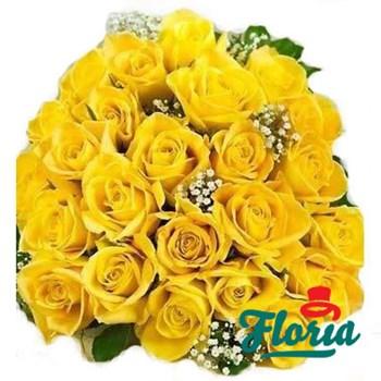 Buchet de 55 trandafiri galbeni