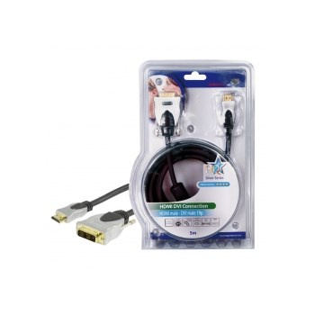 HQ HQSS5551-5 - cablu video HDMI mare - DVI-D, 5m