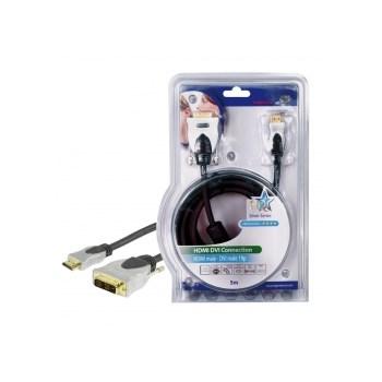 HQ HQSS5551-5 - cablu video HDMI mare - DVI-D, 5m