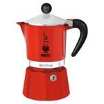 Espressor pentru aragaz Bialetti, capacitate 3 cupe, Seria Rainbow, rosu