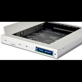 Adaptor Caddy HDD/SSD pentru unitate optic laptop Sata-Sata II 12.5 mm caddy125ss2