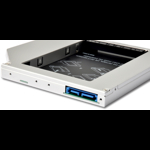 Adaptor HDD Caddy OEM HDD/SSD SATA2 pentru unitati optice de tipul 12.7 mm