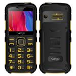 Telefon mobil Samgle Armor, 3G, QVGA 2.0 color, Camera 2.0MP, Bluetooth, FM, Lanterna, 3000mAh, Dual SIM, Stand incarcare cadou, Galben