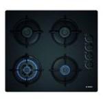 Plita incorporabila Bosch POH6B6B10, Gaz, 4 Arzatoare, Aprindere electrica, Negru