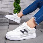 Pantofi sport albi cu negru dama Astunia