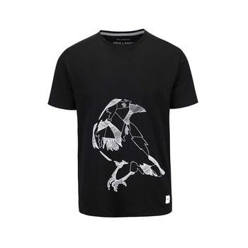 Tricou negru din bumbac ONLY & SONS Kody cu imprimeu
