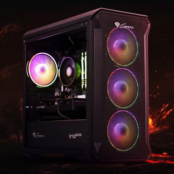 PC Gaming Balaur by HyperX, AMD Ryzen 5 2600 3.4GHz, 16GB DDR4, 500GB SSD, RX 5500 XT 8GB GDDR6, Iluminare RGB