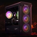Sistem Gaming Balaur by HyperX, AMD Ryzen 5 2600 3.4GHz, 16GB DDR4, 500GB SSD, RX 5500 XT 8GB GDDR6, Iluminare RGB