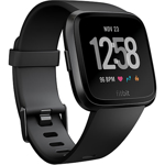 SmartWatch Fitbit Versa negru, curea silicon, black, Accelerometru, Altimetru, Ambient light sensor, Giroscop, Heart Rate Sensor, SpO2
