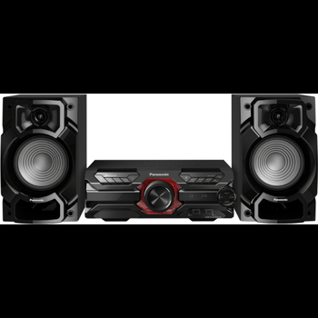Microsistem audio High Power Panasonic SC-AKX320E-K, 450 W RMS, Dual USB, Bluetooth, Max Juke App., Subwoofer 16cm