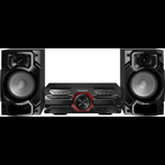 Microsistem audio High Power Panasonic SC-AKX320E-K, 450 W RMS, Dual USB, Bluetooth, Max Juke App., Subwoofer 16cm
