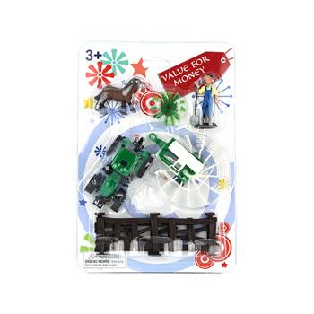 Figurine / Set tractor cu fermier si accesorii La ferma, Yuga