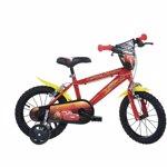 Bicicleta copii 16inch DINO BIKES CARS MOVIE Rosu cu galben 416u-cs3