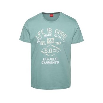 Tricou turcoaz s.Oliver din bumbac cu print