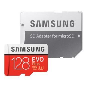 Card memorie Samsung EVO Plus microSDXC 128GB Clasa 10 adaptor inclus