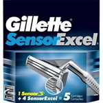 Rezerva aparat de ras Gillette Sensor Excel 5 buc 13284723