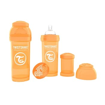 Biberon anti-colici 260 ml Twistshake Portocaliu
